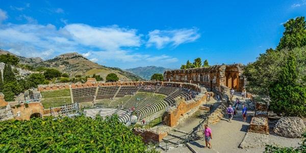 Visite du theatre de Taormina
